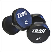 TROY URETHANE 12 SIDED DUMBBELL SET