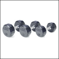 TROY RUBBER ENCASED  12 SIDED DUMBBELL SET