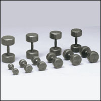 VTX SOLID GRAY 12 SIDED DUMBBELL SET