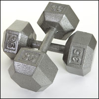 DELUXE  SOLID HEX DUMBBELL SET