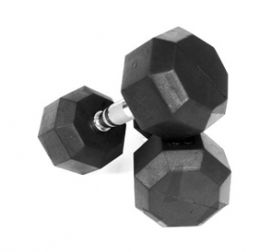 VTX PRO RUBBER ENCASED   8 SIDED DUMBBELL ADD ON SET