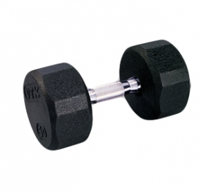 VTX PRO RUBBER ENCASED   8 SIDED DUMBBELL SET