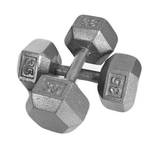 DELUXE SOLID HEX DUMBBELL ADD ONSET