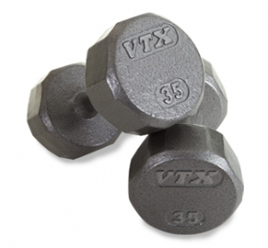 VTX SOLID GRAY  12 SIDED DUMBBELL ADD ON SET